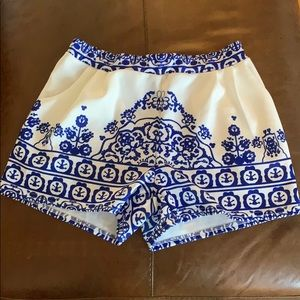 Pants - NWOT-Blue and white detail shorts